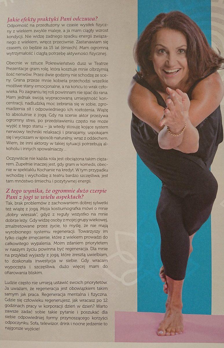Małgorzata Pieczyńska w artykule Yoga & Ayurveda o wpływie jogi na zdrowie